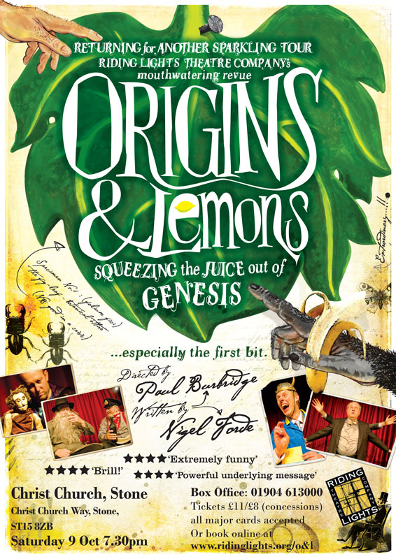 Origins & Lemons - Riding Lights Theatre Company