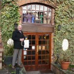 Barry Lakin opens the Advent Window at The Mill, Stone