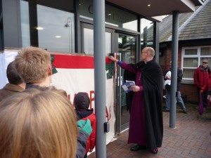 Bishop of Stafford opens the Final window at Christ Church