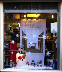 """Stone Addvent Windows No. 10 - """"Let it Snow"""" - Bailey's High Street"""