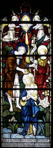 The Stained Glass Windows of Christ Church, Stone - Baptism of Christ (Left of Centre)